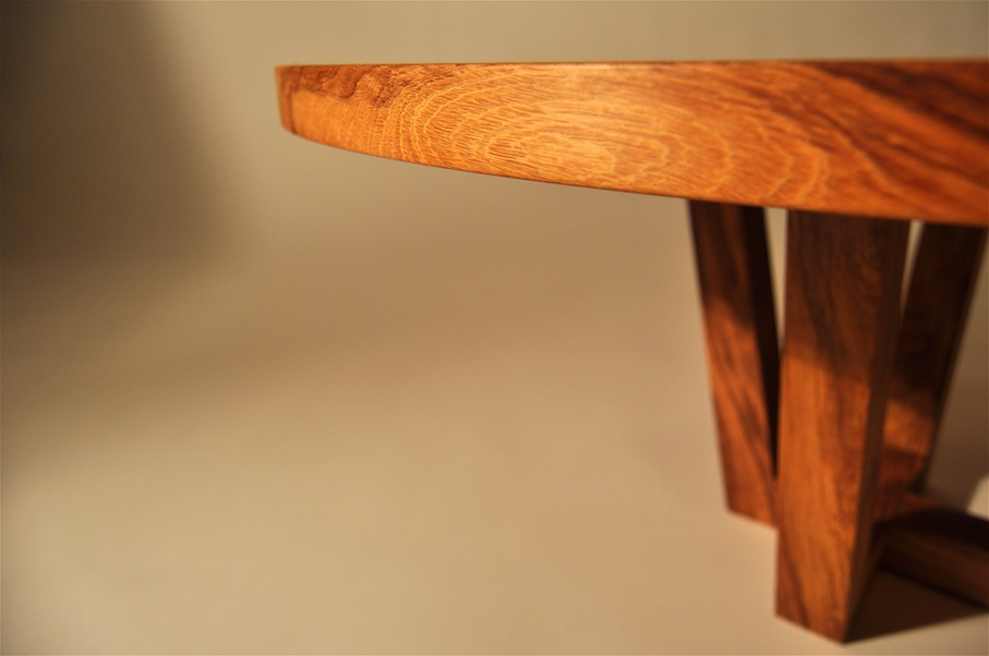 Round Recycled Timber Coffee Table Edge by Mano