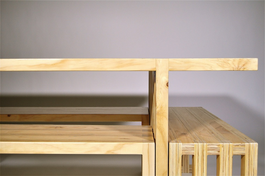 Plywood Dining Table Comfortable Six Seater Il Mio