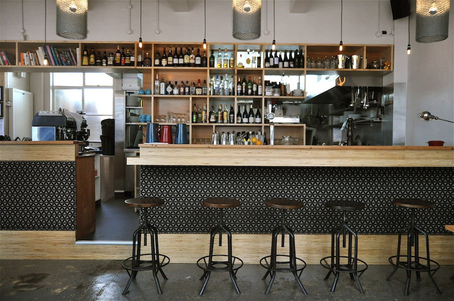 WBC bar with stools, joinery by Mano