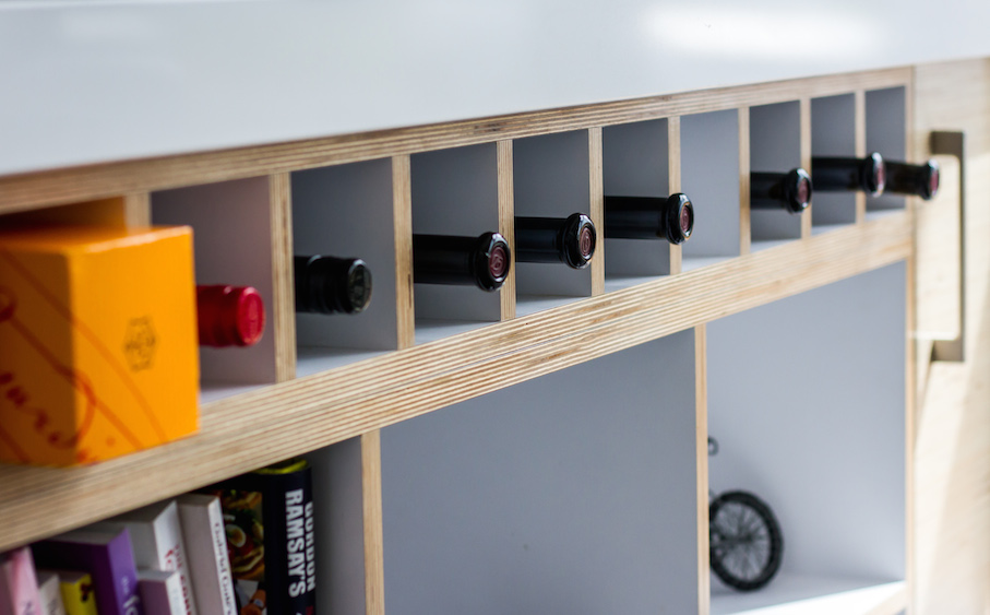Plywood_kitchen_wine_rack